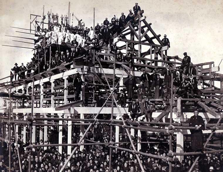 大正12年3月1日 旧神殿上棟式